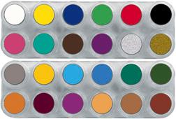 GRIMAS Water Make-up Palette A+B with 24 colors