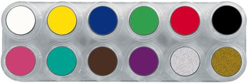 GRIMAS Water Make-up Palette A with 12 colors