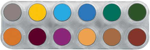GRIMAS Water Make-up Palette B with 12 colors