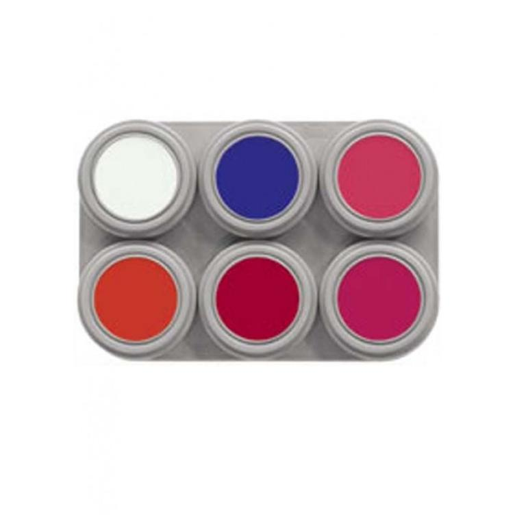 GRIMAS Water Make-up Palette Fluor with 6 colors