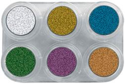GRIMAS Water Make-up Palette Metallic with 6 colors