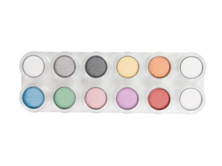 GRIMAS Eyeshadow/Rouge Palette P1 Pearl with 12 colors