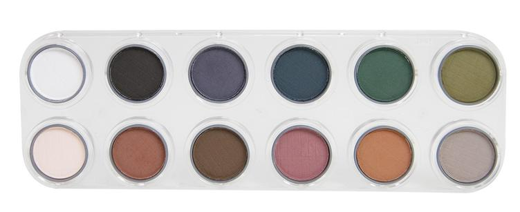 GRIMAS Eyeshadow/Rouge Palette UX with 12 colors