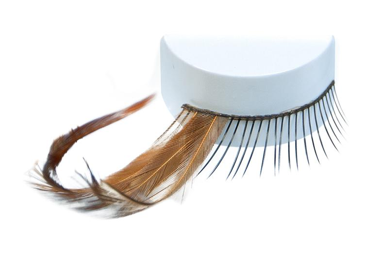 ATB Eyelashes Black/Long Feather