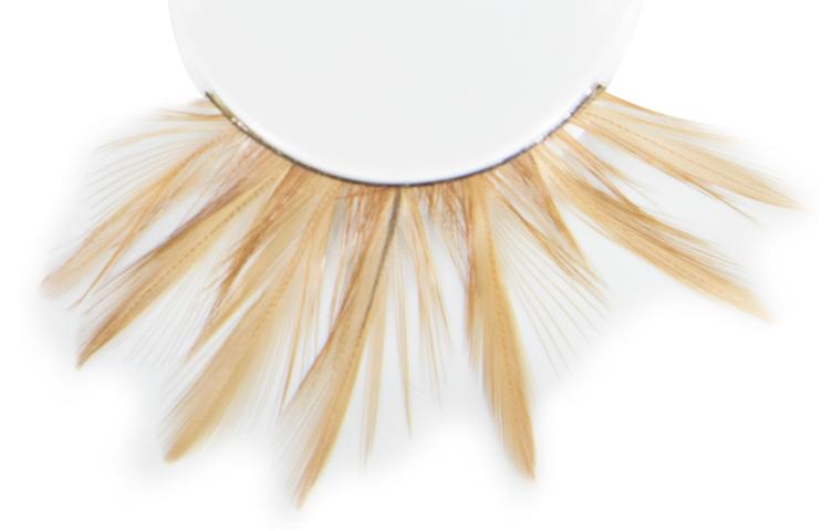 ATB Eyelashes Brown/Short Feather