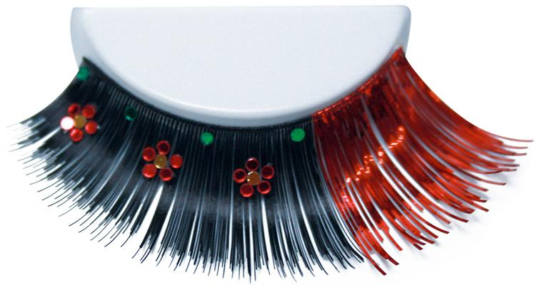 ATB Eyelashes Black/Red