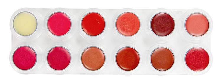 GRIMAS Lipcolor Palette LB with 12 colors
