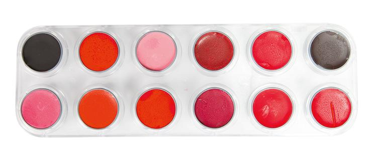 GRIMAS Lipcolor Palette LF with 12 colors