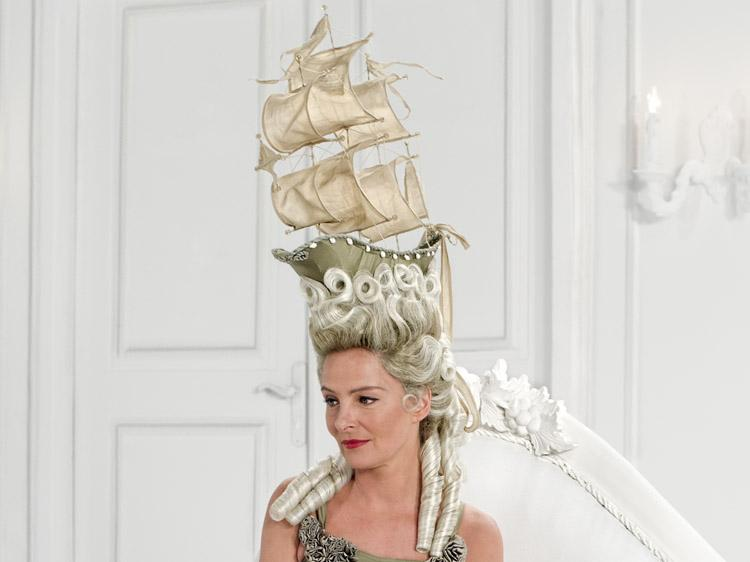 Marie Antoinette and her La Belle Poule Wig Cages.