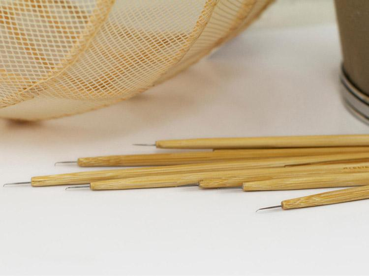 Knotting Needle with Bamboo Holder