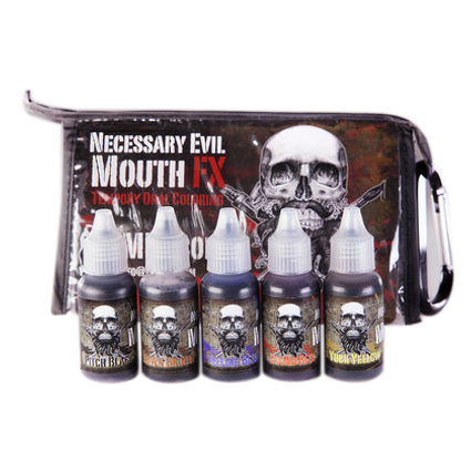 PPI Mouth FX Kit with all 5 colors @15ml (0.5oz)