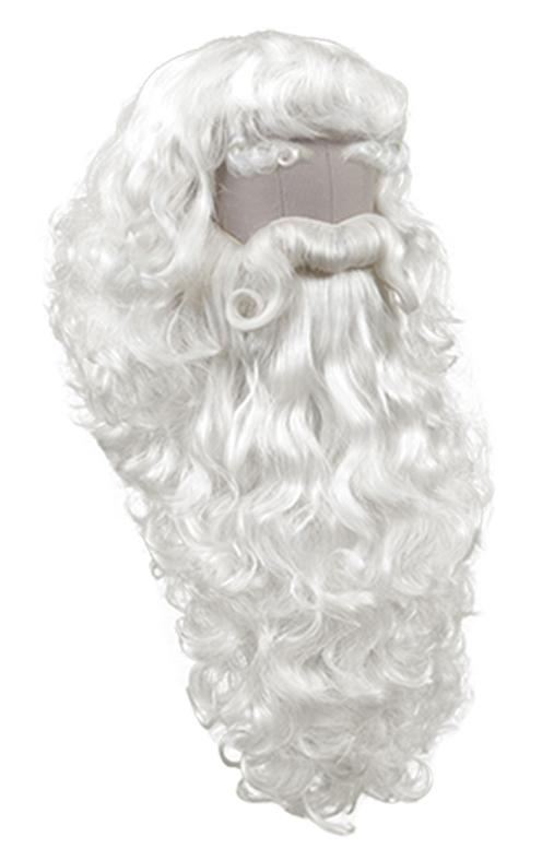 DISCONTINUED COLORS: ATB Santa Claus Set Style 3, Synthetic Hair