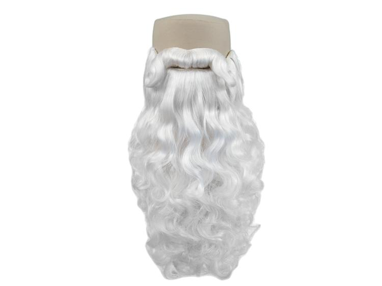 ATB Beard with Moustache of Santa Claus-Set Style 3, Synthetic Hair