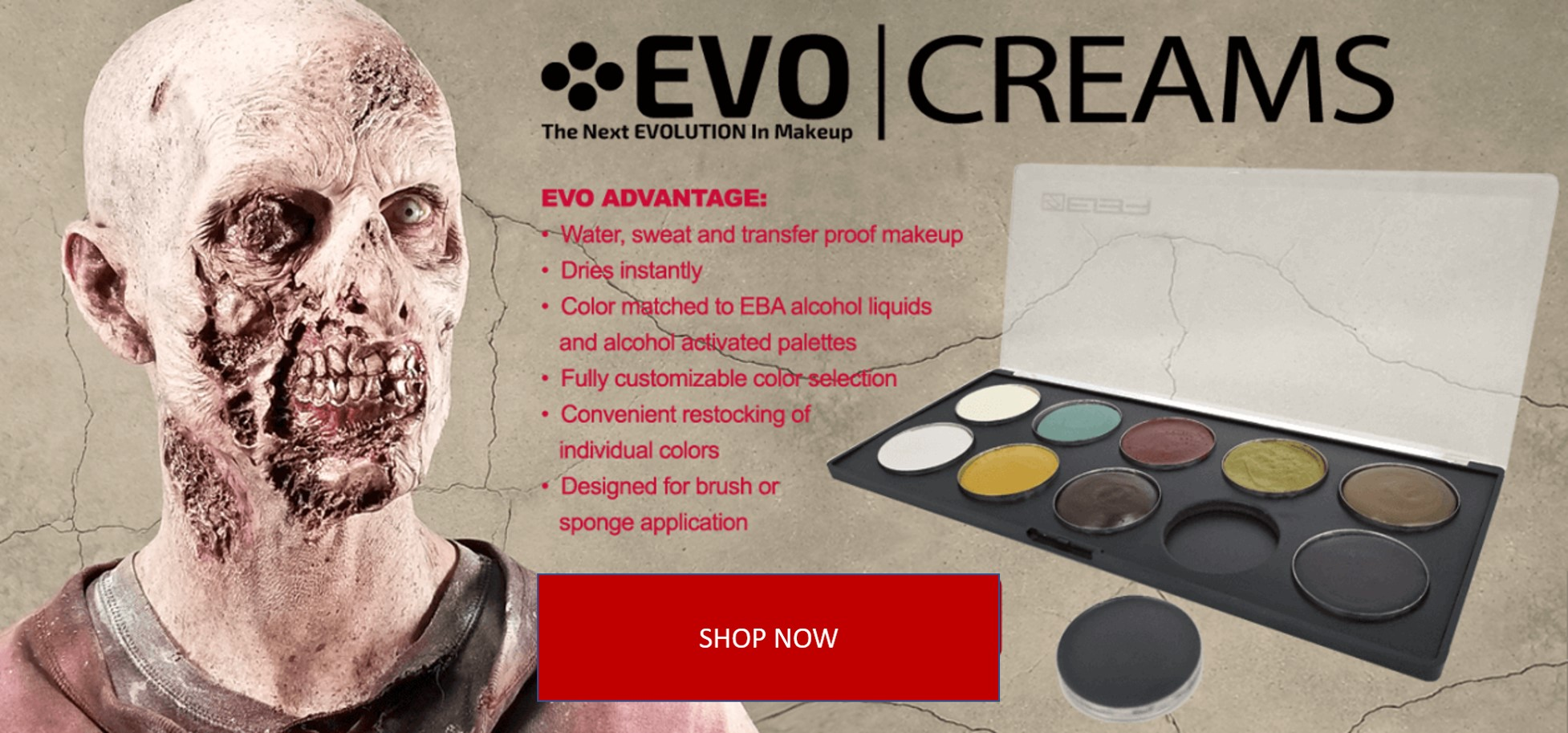 Evo Cream Palettes 4693 Special Effects Make Up